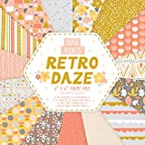 Paper Addicts PAPAD041 Retro Daze 6'x6' Paper Pad-30 Sheets-15 Designs-100GSM-Acid & Lignin Free-for Card Making, Papercraft, Scrapbooking, Die Cutting And Home Décor, MultiFarben, One Size