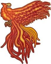 Fiery Majestic Phoenix Mid-Flight - Vinyl Sticker