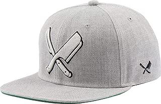 Distorted People Barber & Butcher Logo Blades Grey Melange Snapback Cap Basecap OSFA One Size