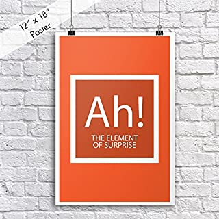 DHDM Ah! The Element Of Surprise Periodic Table Poster | 12-Inches By 18-Inches | Inspirational Motivational Classroom | JSC802