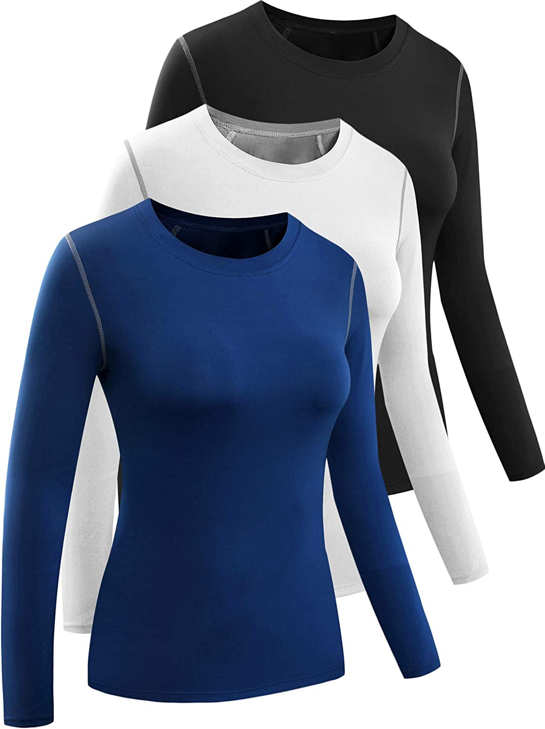 CADMUS Women's 3 Pack Running Compression Sleeve Spring new work one after another low-pricing Long Shirt T
