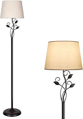 Dimmable Floor Lamp, Standing Lamp with Stepless Dimmer, Rustic Floor Lamp for Living Room, Farmhouse, Corner, Tall Pole Read
