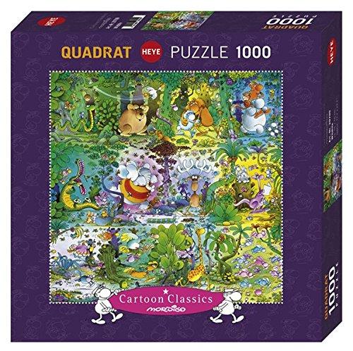 Heye- Puzzle Quadrato Mordillo Wildlife, 1000 Pezzi, VD-29799
