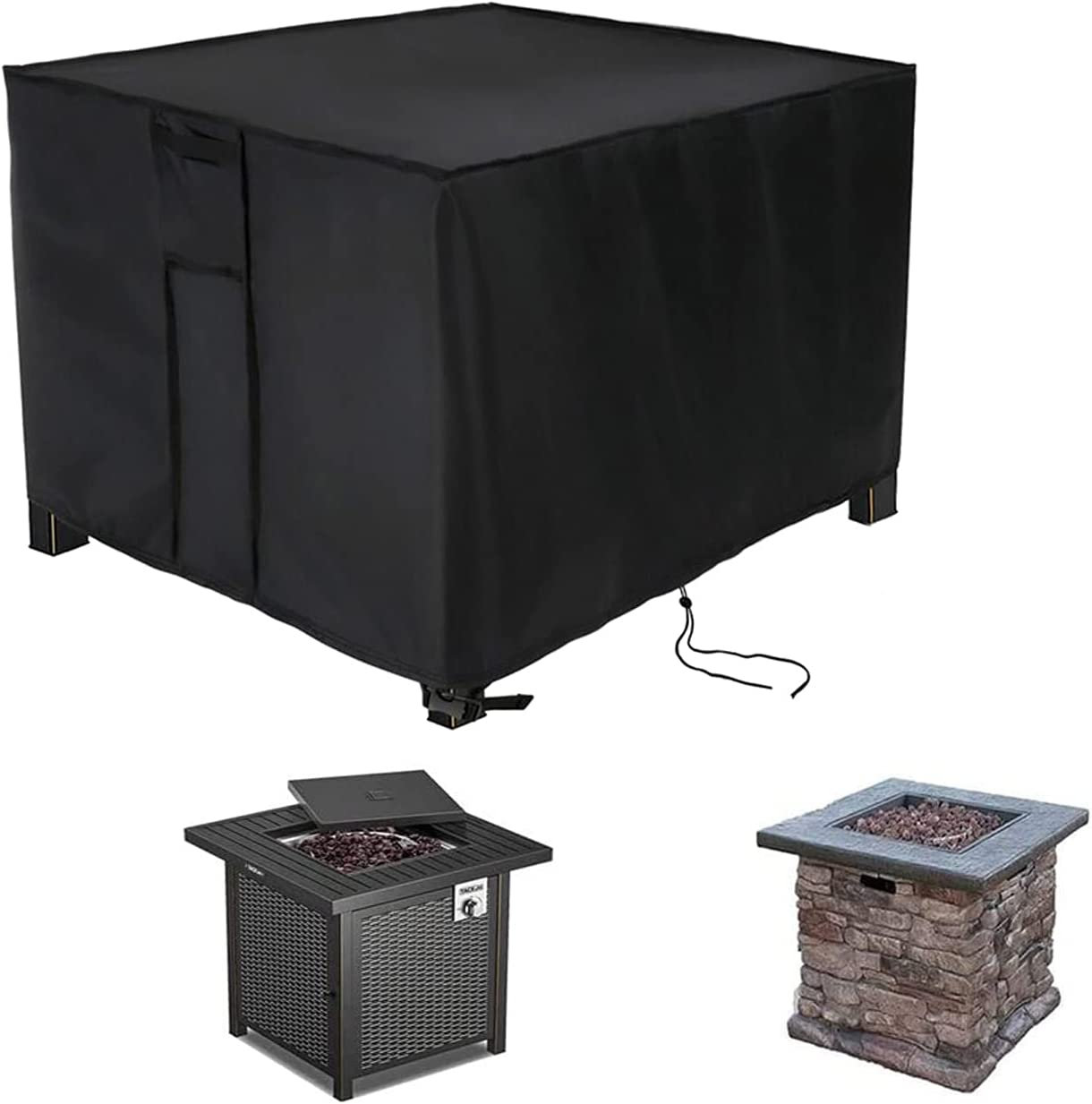 POMER Fire Pit Cover Special Ranking TOP12 sale item Square Anti-UV Ou - 28x28x25inch Waterproof