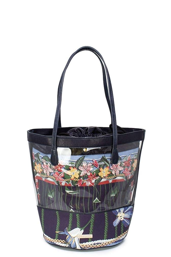 千あらゆる種類の有効化Desigual レディース 19SAXPBFBLUE ブルー フェイクレザー 買物袋