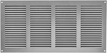 Rejilla de ventilación con protección contra insectos, 400 x 200 mm, color gris