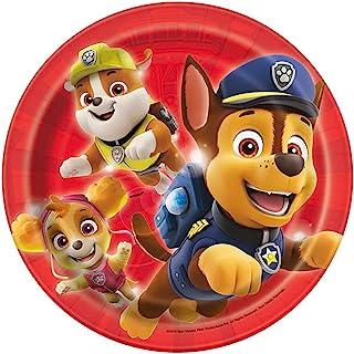 Paw Patrol Round Dessert Plates - 8 Pcs
