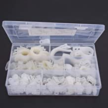 R-Type Cable Clamp, Cable Clamp, Portable for Cable Conduit Wire Management(200 pieces-white nylon R type clip)