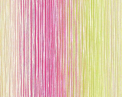 Esprit Home Vliestapete Buenos Aires Tapete Streifentapete 10,05 m x 0,53 m bunt grün rot Made in Germany 941471 94147-1