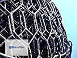 Fencer Wire 19 Gauge Black Vinyl Coated Hot Dip Galvanized Hex/Poultry Netting Mesh Size 3/4