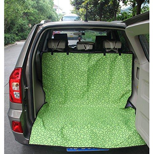 Seat étanche Car Cover Pet Dog Mat Voyage pour SUV Trunk, Vert Couverture