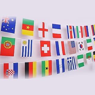 50 banderas de países diferentes, banderas internacionales del mundo, Guirnalda de Banderas para Bar,decoración de fiesta(14 cm x 21 cm)