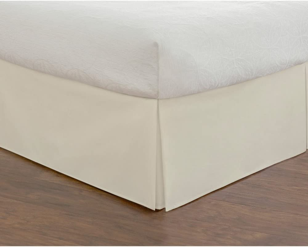 Todays Home Microfiber Bed Skirt Dust Ruffle Classic Tailored Styling 14 Drop Extra Long Twin White