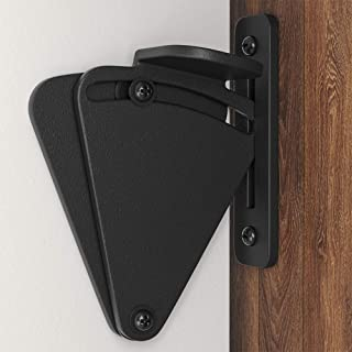 WINSOON Black Steel Large Size 2.44 X 3 Inch Lock for Sliding Wood Barn Doors