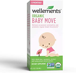 Wellements Organic Baby Move, 4 Fl Oz, Relieves Occassional Constipation, Free from Dyes, Parabens, Alcohol, Preservatives