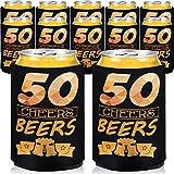 24 Pezzi 50th Compleanno Maniche di Birra 50 Anni Bevanda Latitina Raffreddare 50esimo Compleanno Anniversario Regalo Birra Maniche Birra Raffreddare Manica Isolata per Soda Birra Lattina Bibita