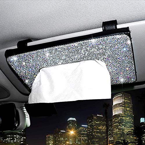 ChuLian Bling Bling Car Sun Visor Tissue Box Holder