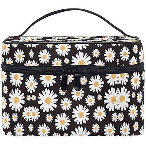 Trousse de maquillage Vintage Fresh Daisy Travel Cosmetic Bags Organizer Train Case Toiletry Make Up Pouch