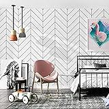 Telihone Papel pintado geométrico Raya Decoración de la pared Sala de estar, Dormitorio, Restaurante, Etiqueta de la pared de la tienda de ropa, Raya, 0.53 * 10 M