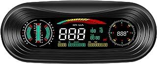 Romacci Smart GPS Slope Meter Car HUD LCD Car Head Up Display Medidor de inclinação digital inteligente de inclinação, vel...
