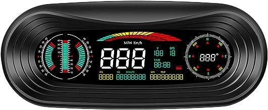 Zwbfu Smart GPS Slope Meter Car HUD LCD Display Head Up Display Smart Digital Tilt Slope Meter, velocidade, altitude, dire...