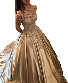 Aisahnglina Women/'s Pearls Beaded Halter Pleated Long Chiffon Formal Evening Gown Wedding Party Dress