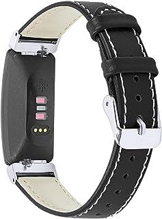 Jennyfly Bracelet en cuir compatible avec Fitbit Inspire HR/Inspire, bracelet de montre fin classique en cuir avec boucle ...