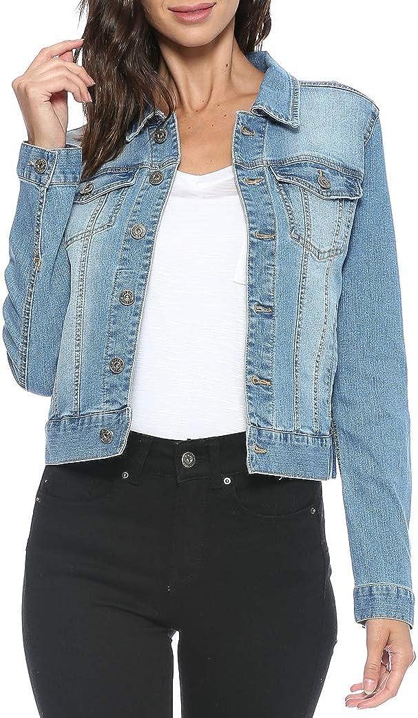 Urban Look Women's Casual Stretch Denim Jean Jacket