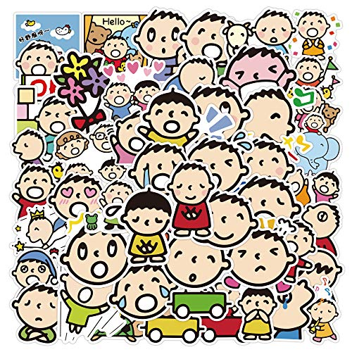 ZNMSB 50 Pegatinas de Grafiti de Dibujos Animados Bonitos con Boca Grande para niño, Maleta Impermeable, portátil, Scooter, Nevera, Taza de Agua, Pegatinas