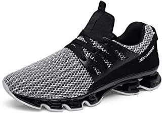Breathable Shoes Running Shoes, New Sports Casual Men's Shoes, Comfortable Fashion Trainers for Gym Sports Fitness,Gray,48