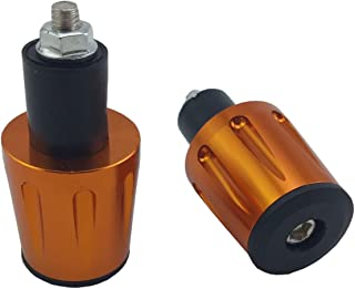 Silver Merssavo Bar End Caps Plug,22mm Motorcycle Anti Vibration Balance Handle Bar End Plug Grip Plug