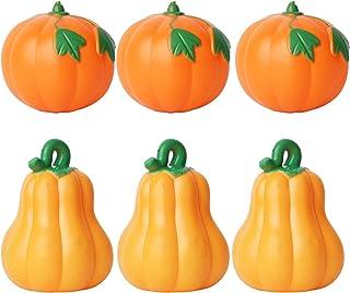 Plastic Mini Pumpkin for Crafts Halloween DIY Supplies, 6 pcs