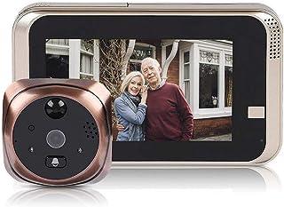 Bewinner Wireless Video Doorbell 4.3inch 720P HD Cámara de seguridad 166 ° Visión nocturna Detección de movimiento WiFi Sm...