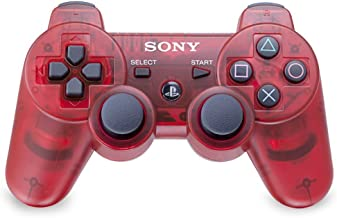 PlayStation 3 Dualshock 3 Wireless Controller (Crimson Red) (Renewed)