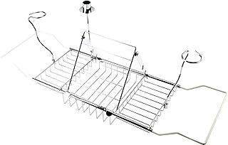 フェリモア バスタブトレー ステンレスラック キャンドルスタンド 伸縮式 浴槽収納 ブックスタンド