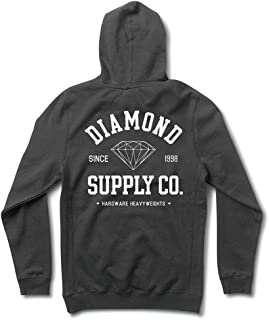 f84123830 Diamond Supply Co. Men's Athletic Long Sleeve Pullover Hoodie Blue