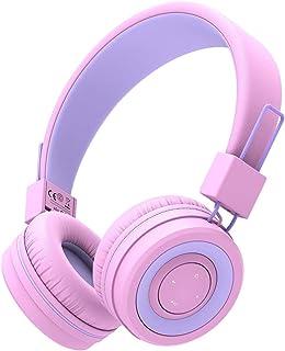 Kinderen Bluetooth Hoofdtelefoon, iClever Hoofdtelefoon voor Kinderen met MIC, Volume Controle Verstelbare Hoofdband, Opvo...