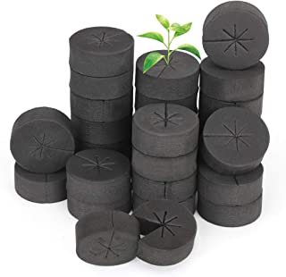 GROWNEER 60 Packs 2 Inches Garden Clone Collars Cloning Collar Inserts with 8 Spokes, Fits 2 Inches Net Pots, for Hydropon...