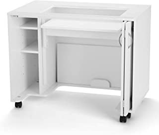 Arrow 2011 Mod Squad Modular Sewing, Cutting, Quilting, Crafting Cabinet, Portable with Wheels and Airlift, White Finish