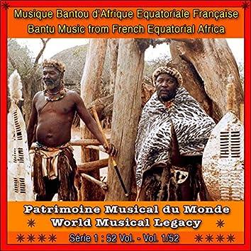 Patrimoine musical du monde / vol. 1/52 : musique bantoue d'afrique equatoriale française