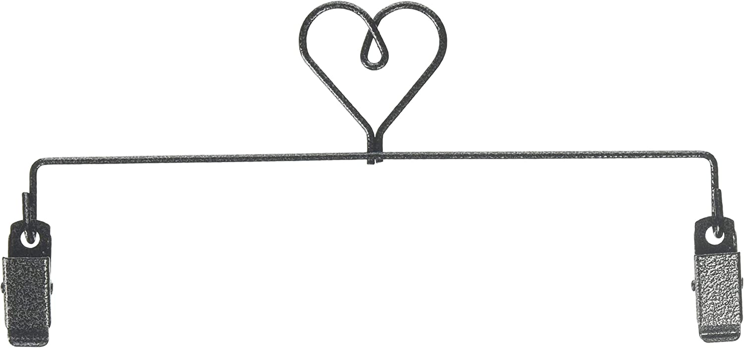 Ackfeld Manufacturing NEW before selling 8in Heart Charcoal Clip Holder Popularity Hanger
