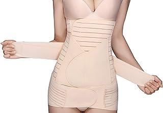 KSPOWWIN 3 in 1 Postpartum Support Recovery Belly Wrap Waist/Pelvis Belt Body Shaper Postnatal Shapewear