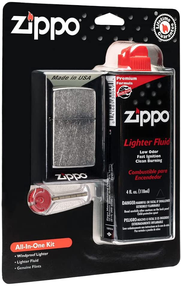 Zippo All-in-One Kit Super Special SALE held with Lighter Matte Windproof Black Free Shipping Cheap Bargain Gift