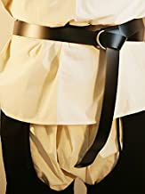 """Re-enactment//Medieval//Larp//Sca//Viking LEATHER WRAP AROUND KNIGHTS BELT 2/""""wide"""