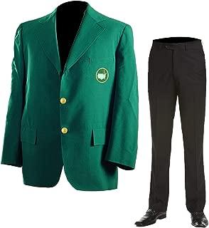 Mens Masters Golf Tournament Augusta Club Jacket Green Tiger Woods Blazer Coat & Pants