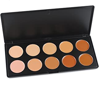 FantasyDay Pro 10 Colors Cream Concealer Camouflage Makeup Palette Contouring Kit - Ideal for Professional and Daily Use