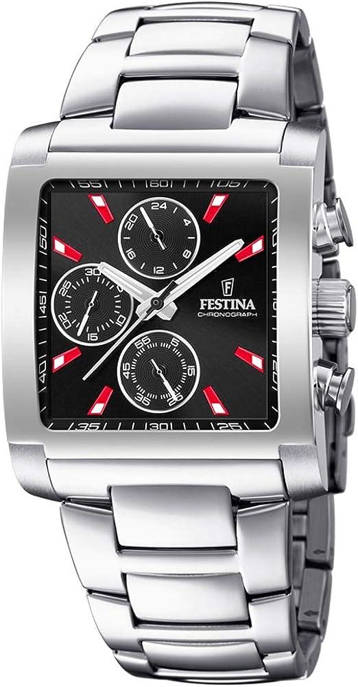 Festina orologio cronografo  casual da uomo  in acciaio inossidabile F20423/8