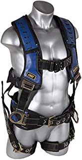 Guardian Fall Protection 193130 Construction Premium Edge Harness with Quick Connect Chest Buckle, Waist Tounge Buckle and Leg Tounge Buckles, Small