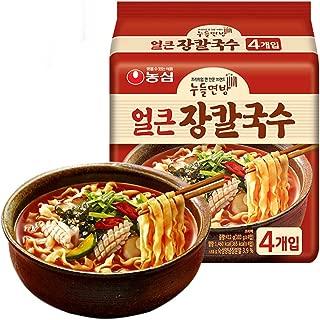刀削面 方便面 インスタント麺 拉面 农心 NONG SHIM 韩国进口 韩式刀削面 海鲜汤味拉面 103g*4袋