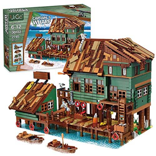 spining Juego de Edificios de la Tienda de Buceo, Edificio Modular de la casa, Modelo de la Arquitectura de la Calle, 2361pcs Bloques de construcción Compatible con Lego